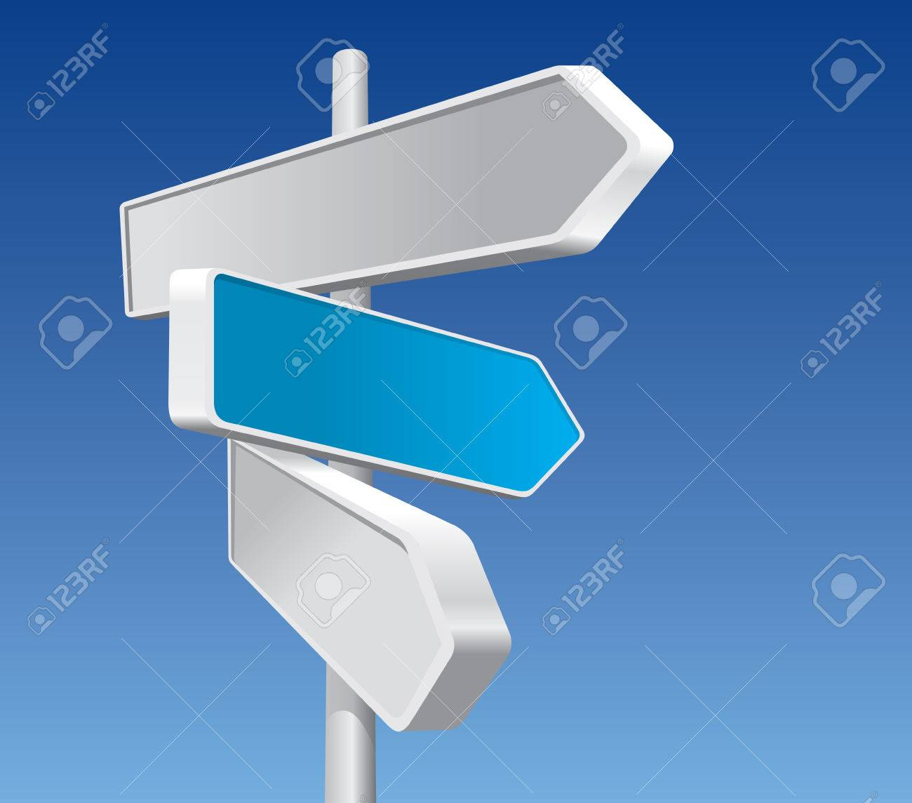 Directional Signs In Business Colors Stock Vector - 5156535