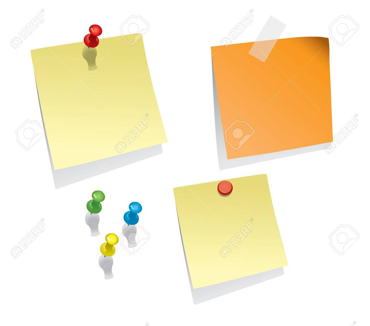 Note Papers Stock Vector - 5156536