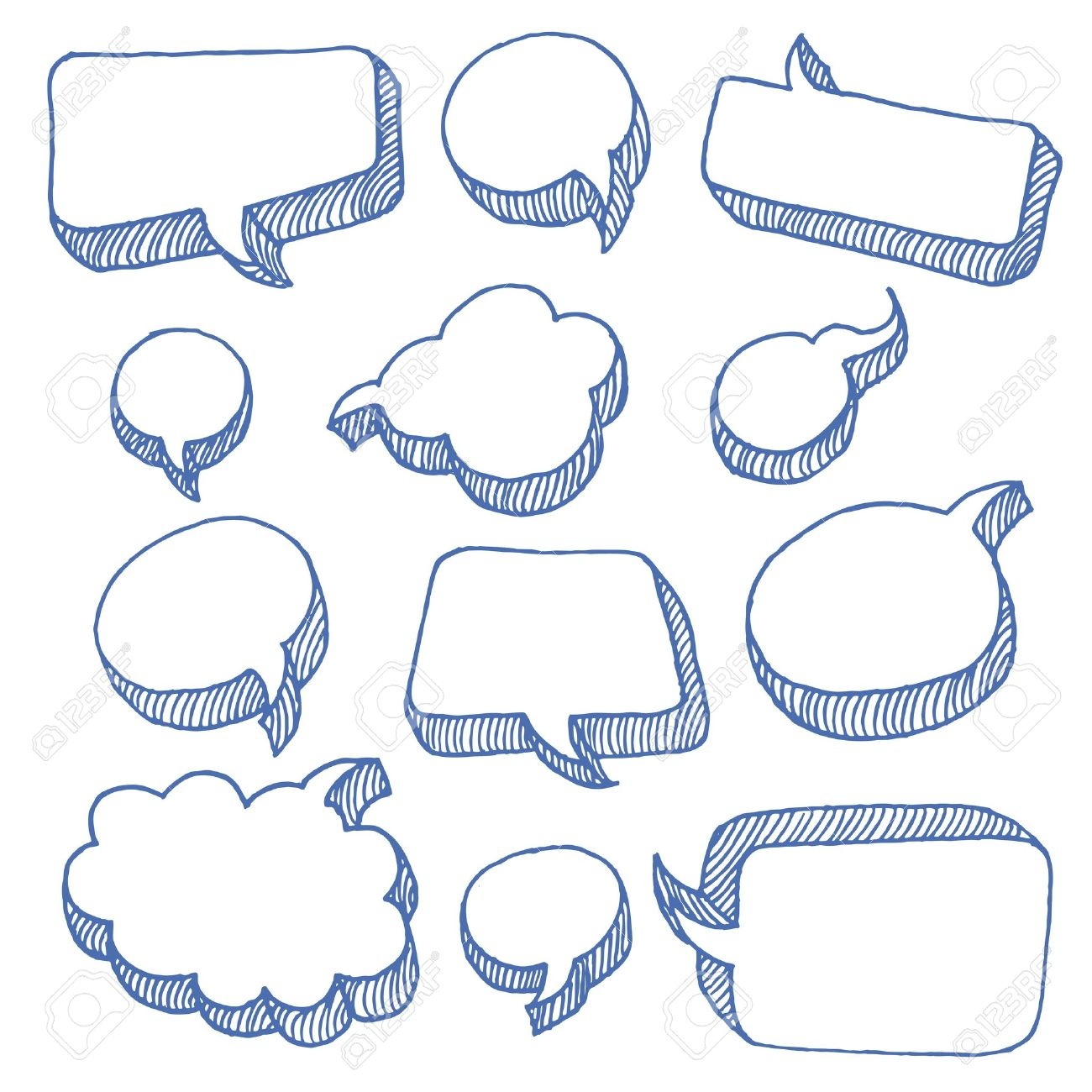 Speech And Thought Bubbles Stock Vector - 12493154