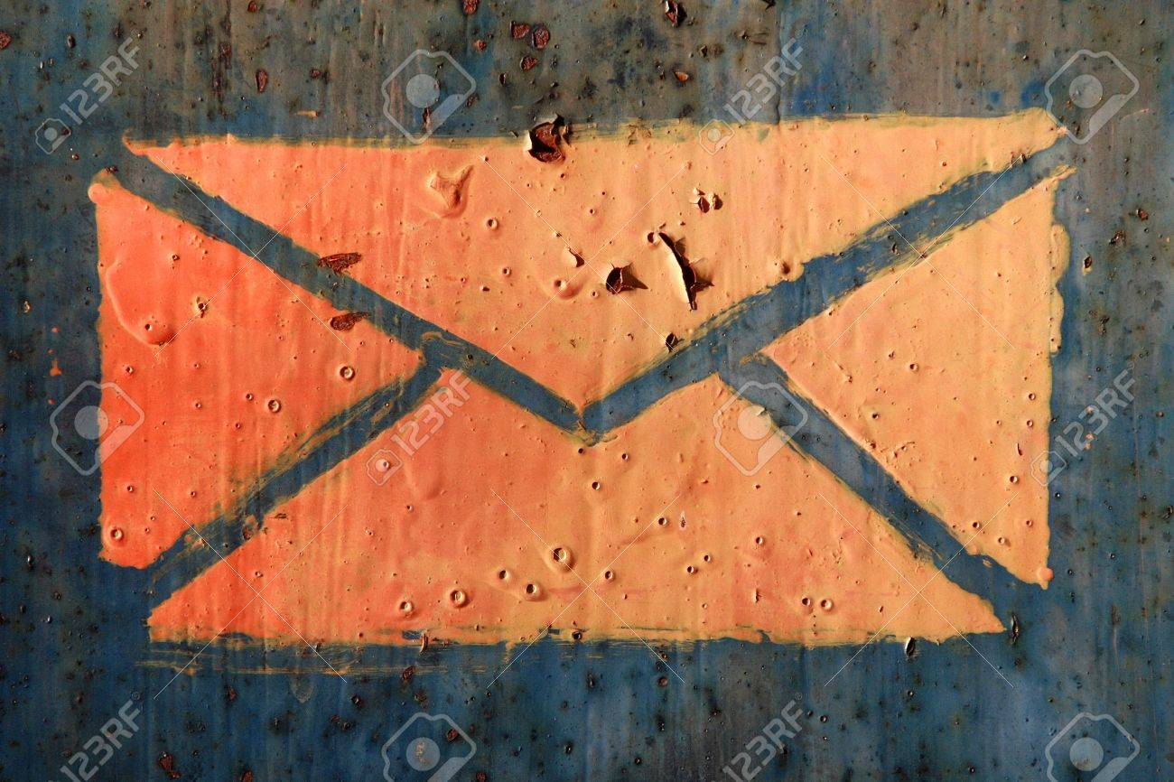 close up of letter symbol old mailbox Stock Photo - 4193636