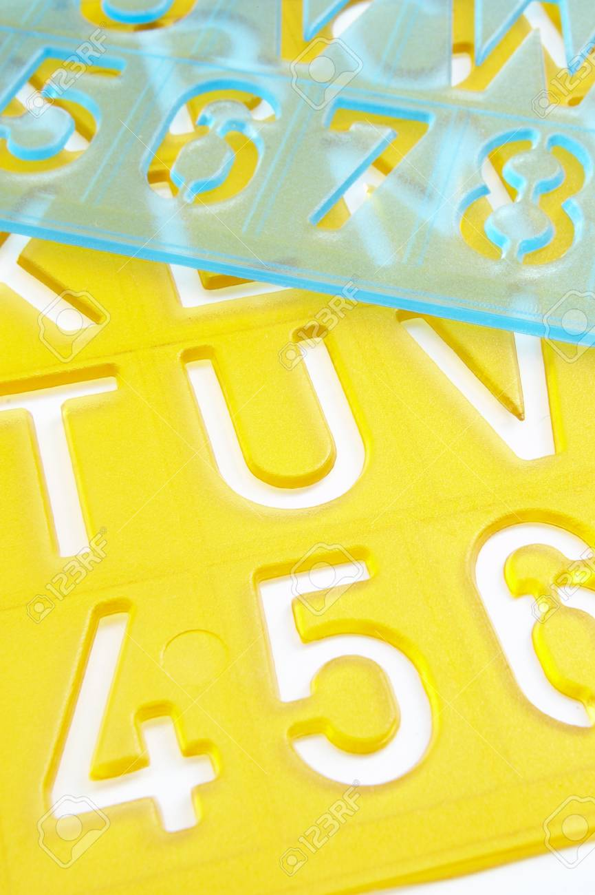 close up of stencil on white background Stock Photo - 4316094