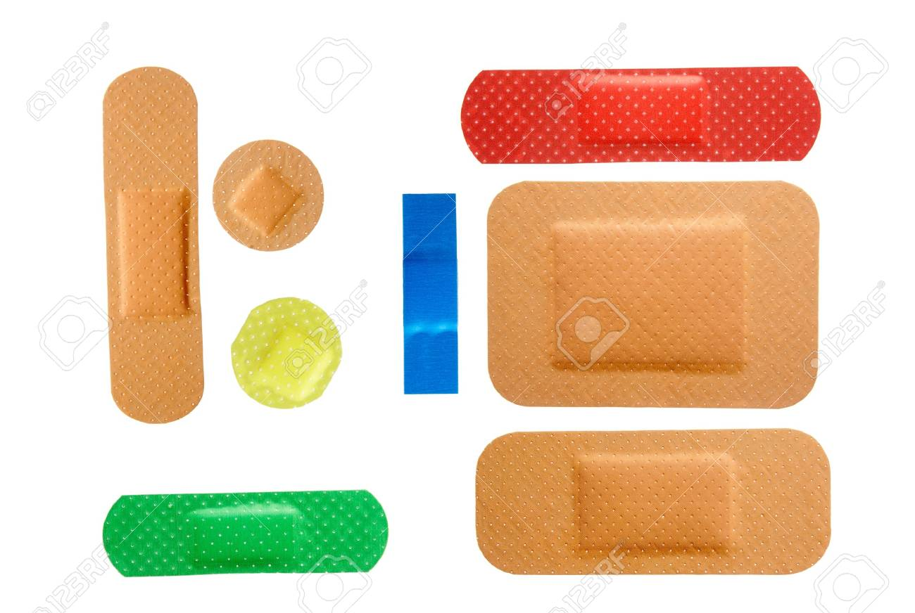 close up of sticking plasters on white background with path. each one is in full camera resolution Stock Photo - 4457232