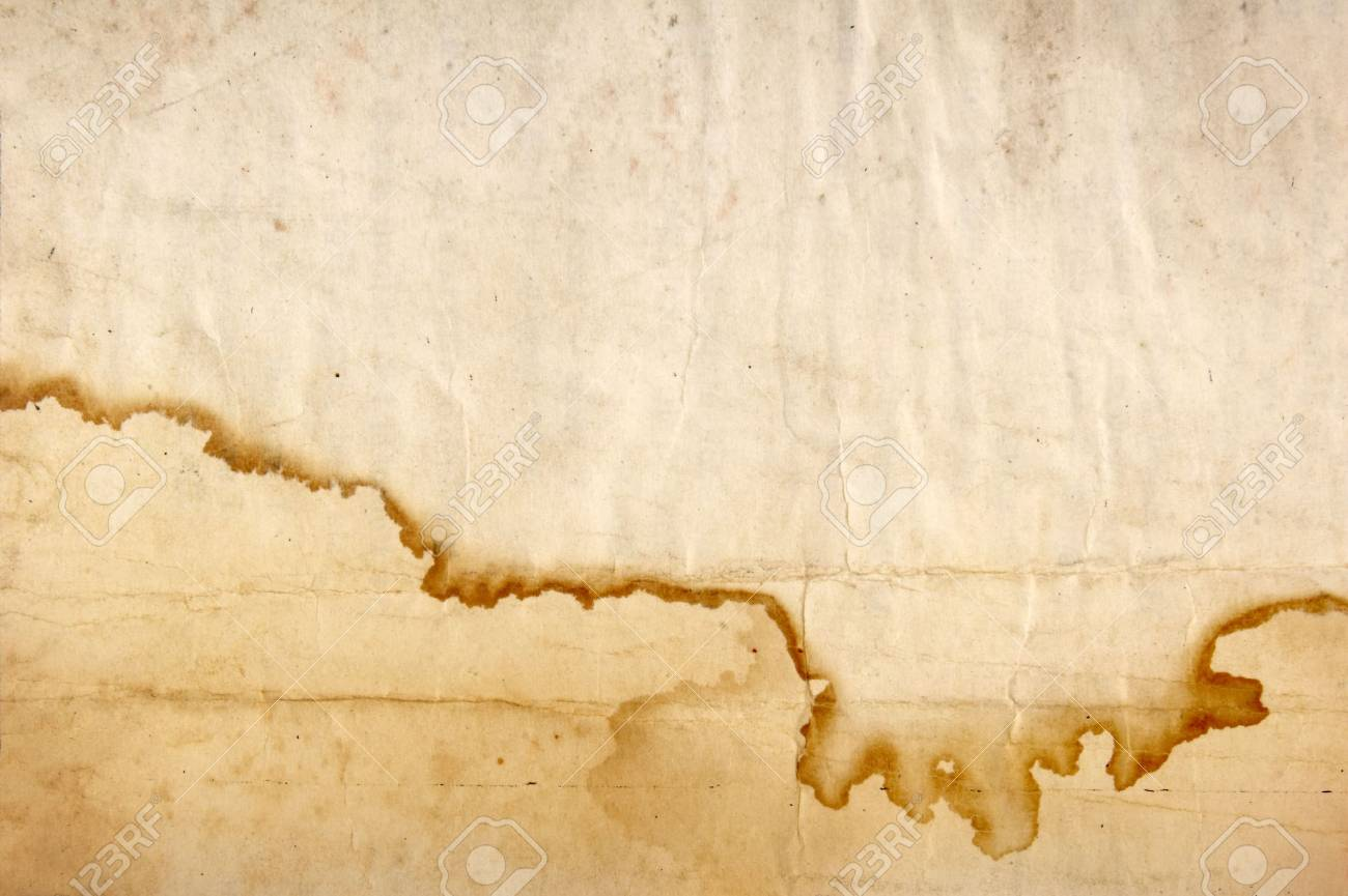old brown grunge paper with stained edge Stock Photo - 4603429