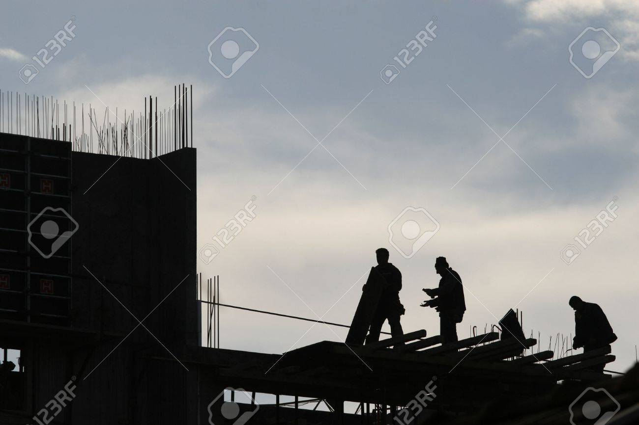 construction worker working on a construction site Stock Photo - 4614010