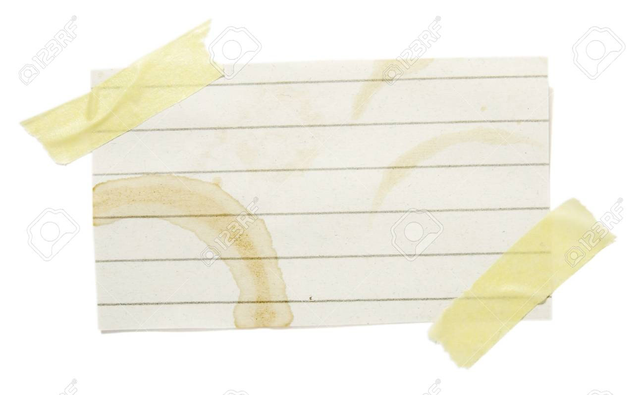 collection of reminders with coffee stain marks on white background . each one is in cameras full  resolution Stock Photo - 4655989