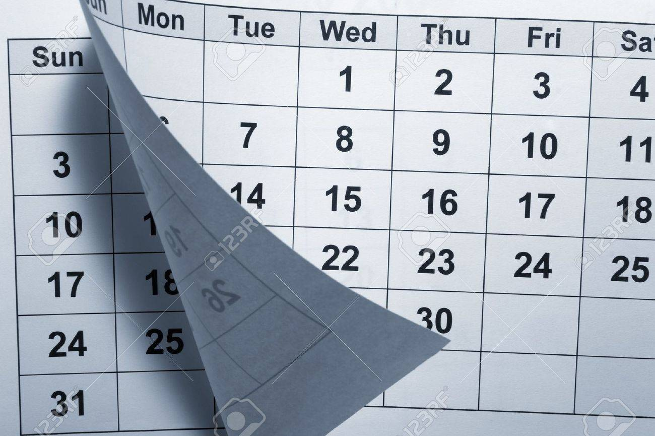 close up of calendar Stock Photo - 4848517