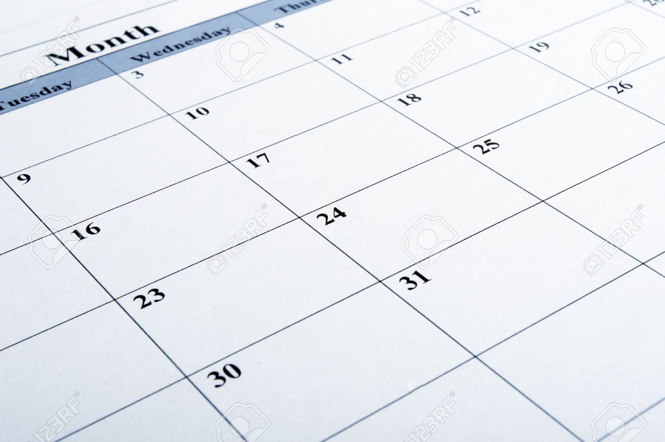 close up of a calendar Stock Photo - 4848512