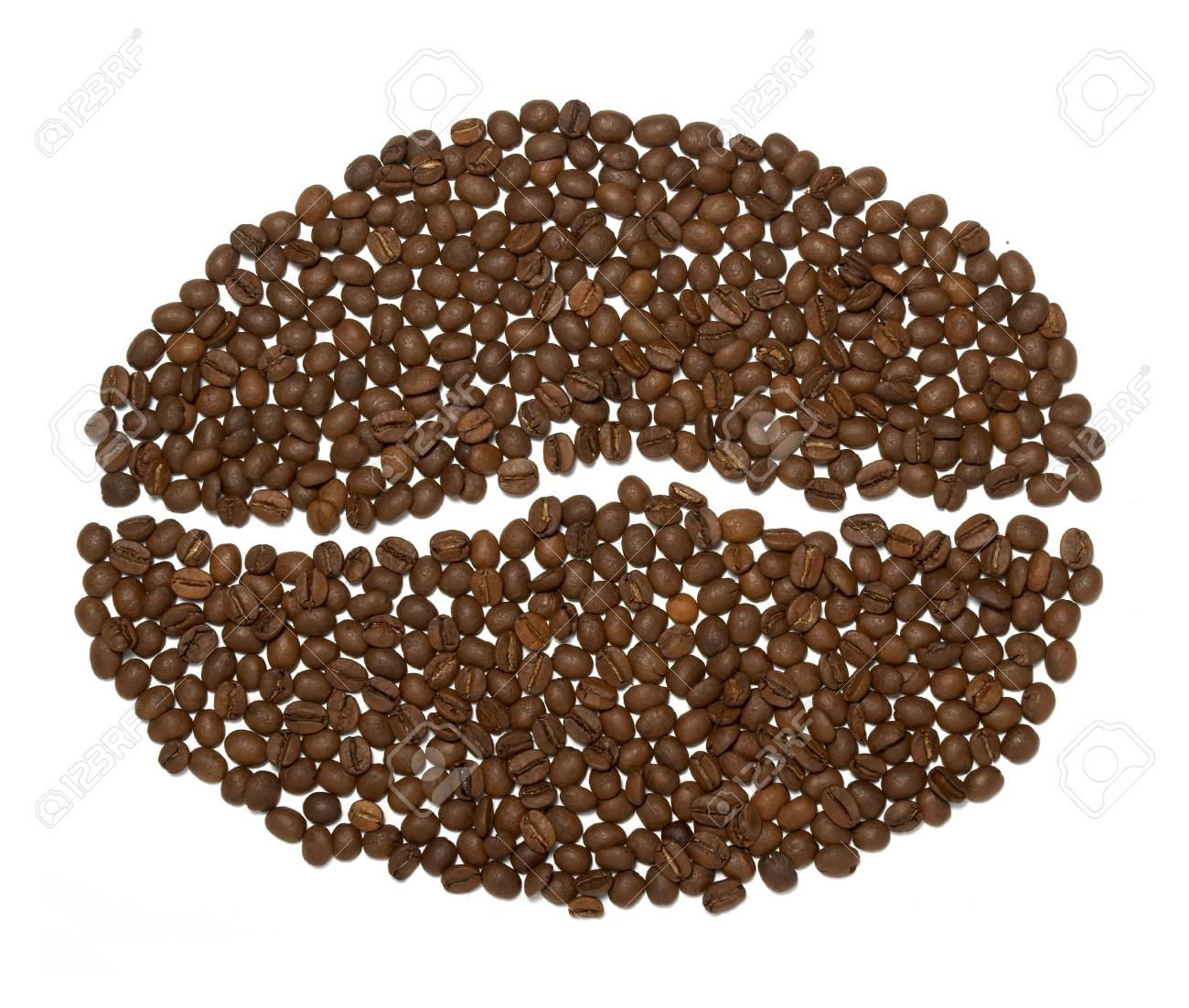 close up of coffee beans on white background Stock Photo - 4983559
