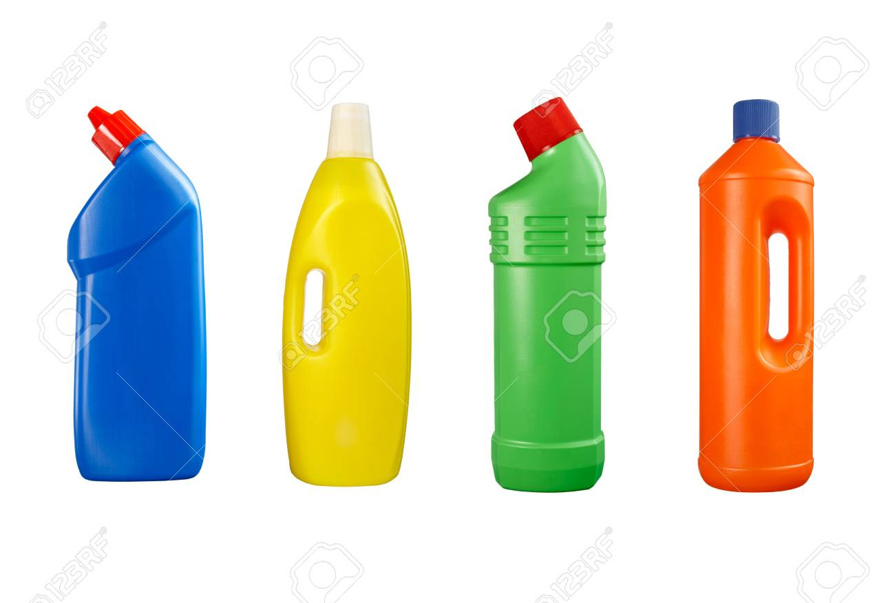 collection of hygiene cleaners for housework on white background. each one is in full cameras resolution Stock Photo - 4983439