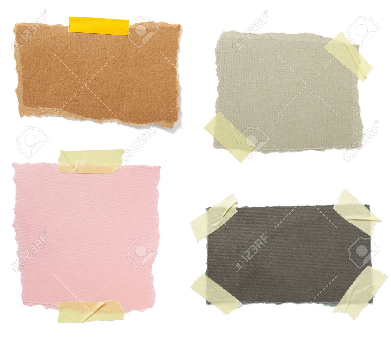 collection of old note paper paper on white background. each one is in full cameras resolution Stock Photo - 6003085