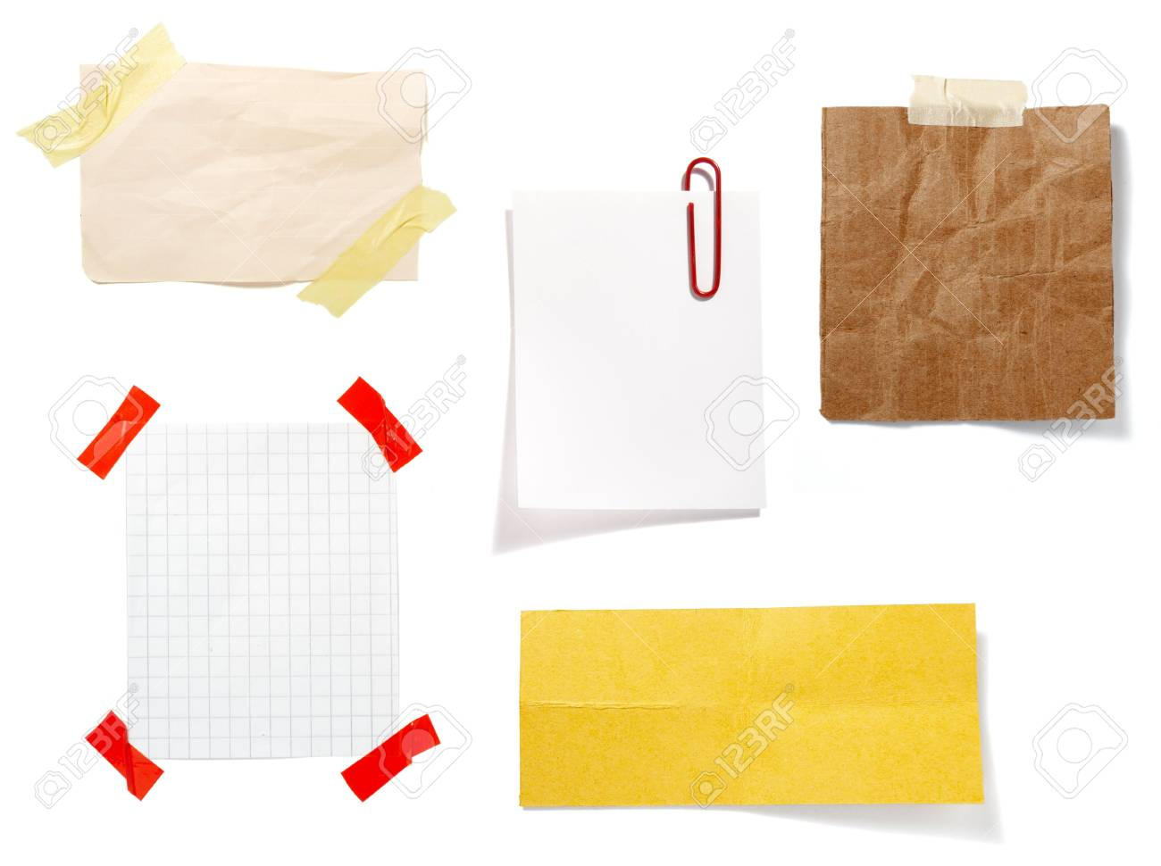 collection of old note paper  on white background. each one is in full cameras resolution Stock Photo - 6353230