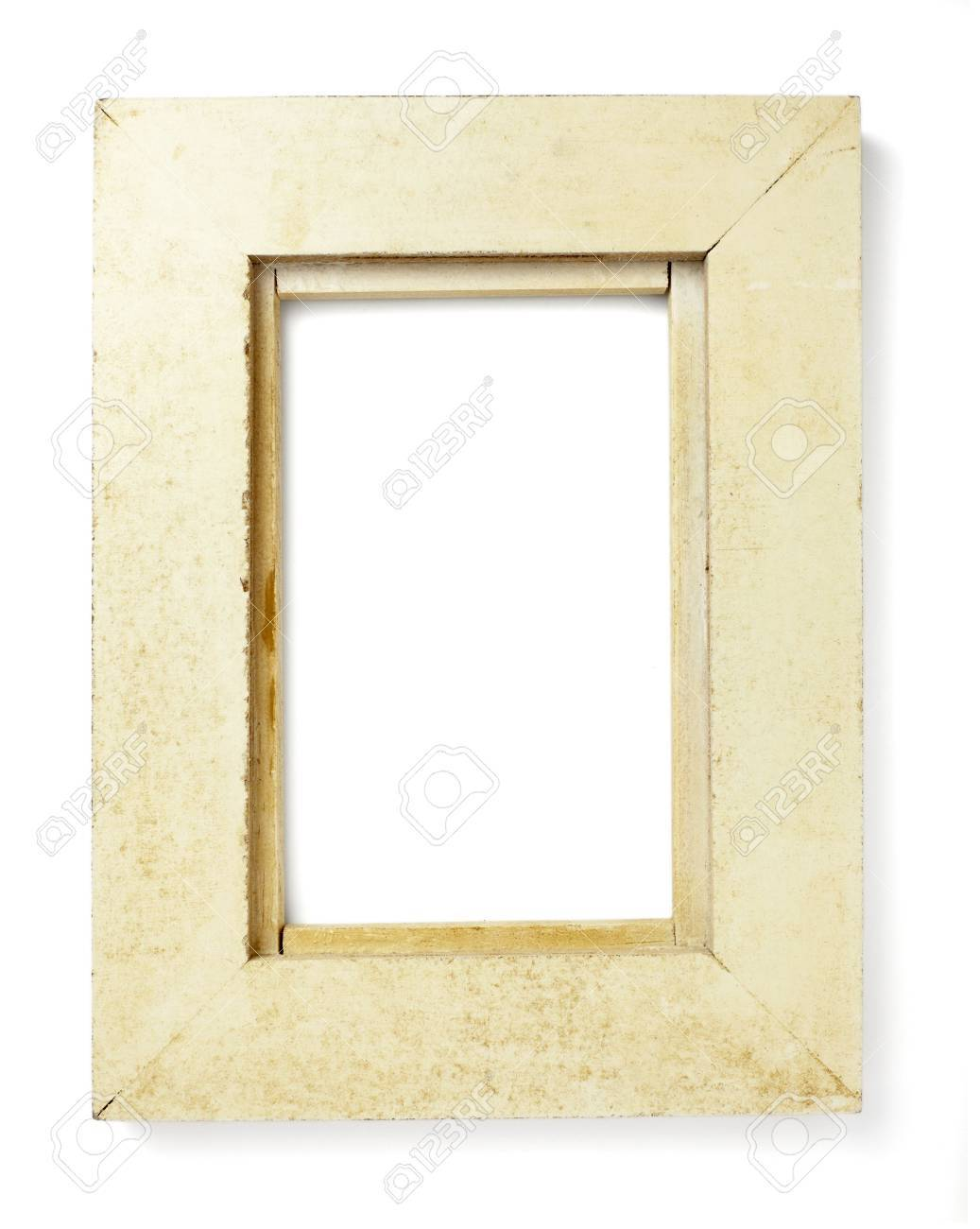 wooden frame for painting or picture on white background with clipping path Stock Photo - 6353235