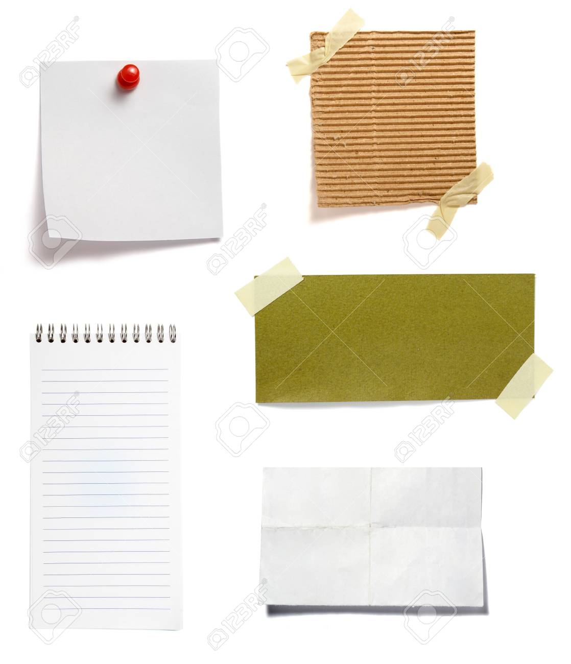 collection of old note paper  on white background. each one is in full cameras resolution Stock Photo - 6386508
