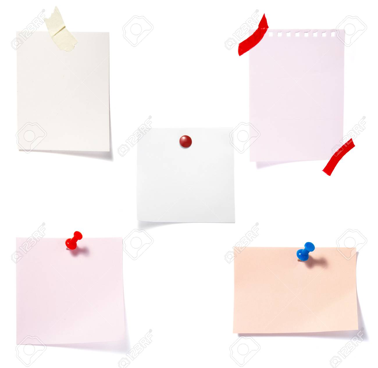 collection of old note paper  on white background. each one is in full cameras resolution Stock Photo - 6386499
