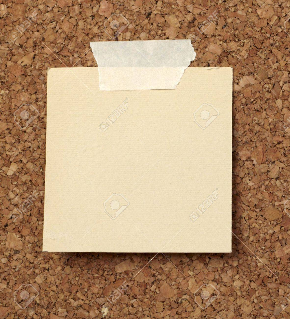 closeup of note paper  on cork board Stock Photo - 6486176