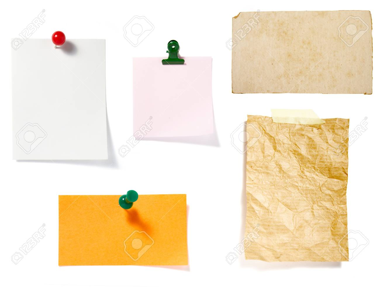 collection of old note paper  on white background. each one is in full cameras resolution Stock Photo - 6560929