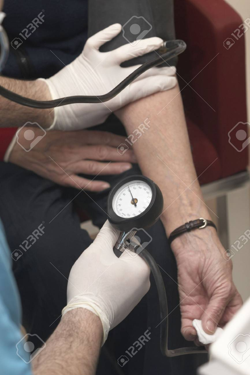 close up of blood pressure  monitoring in lab Stock Photo - 6662308
