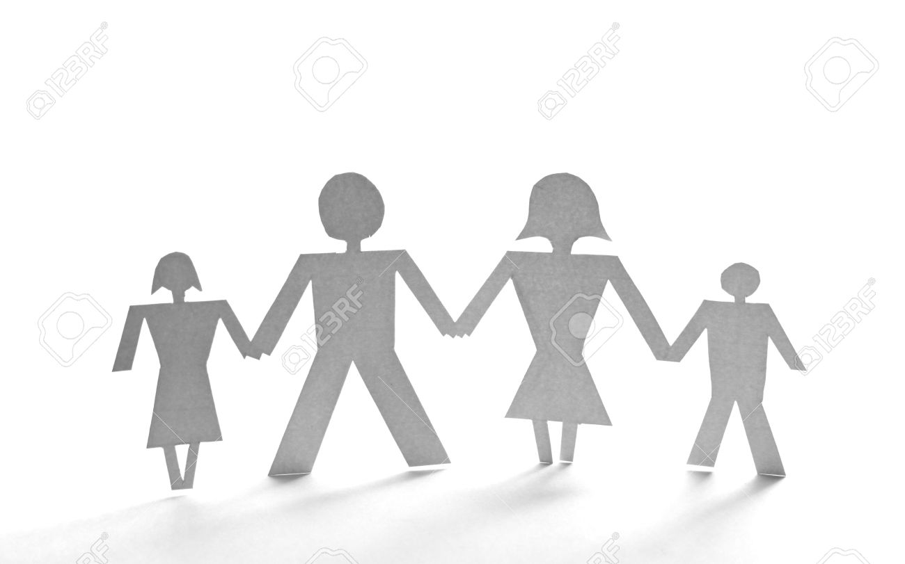 close up of people cut out of paper on white background Stock Photo - 6805562
