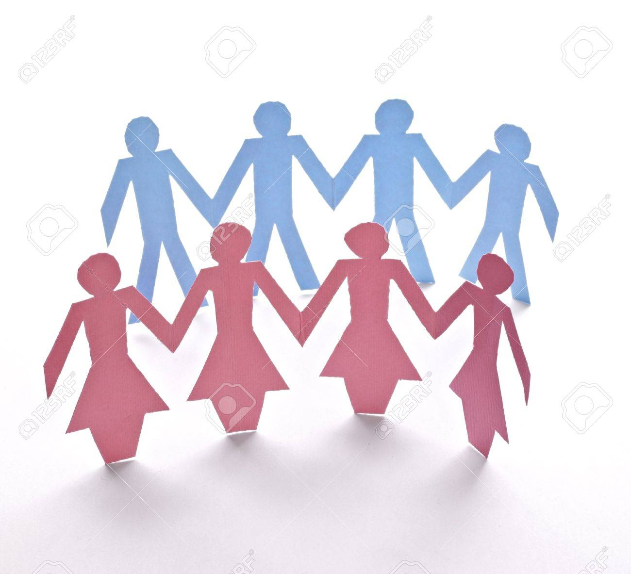 close up of people cut out of paper on white background Stock Photo - 6903006