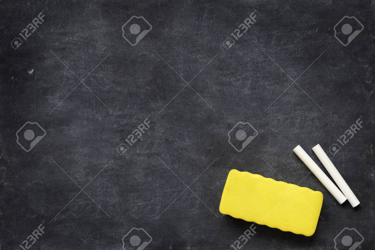 close up of a black dirty chalkboard Stock Photo - 6913686