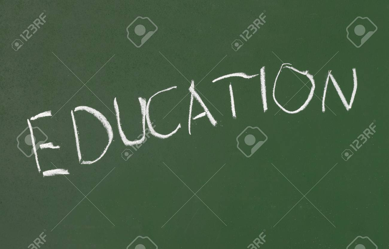 closeup of text on chalk board Stock Photo - 6982774