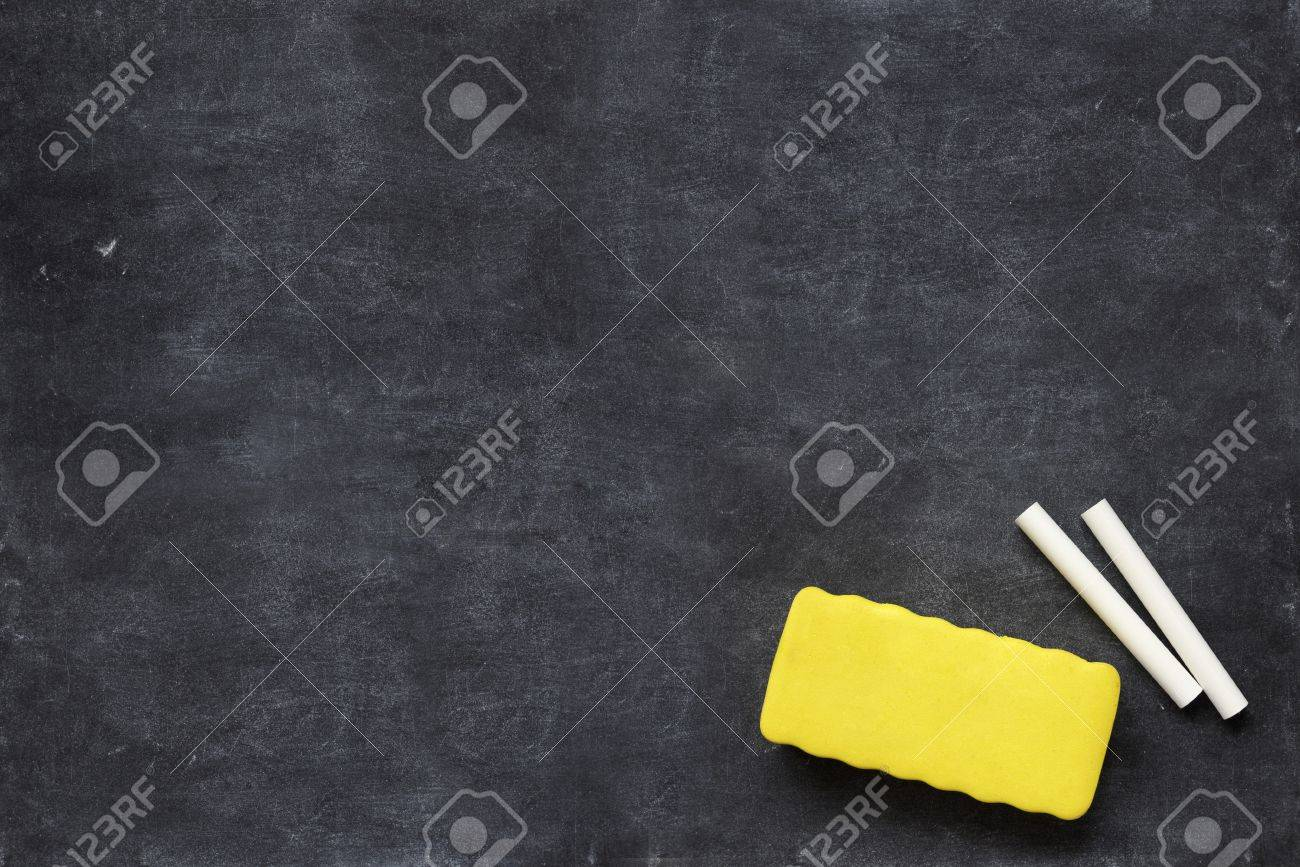 close up of a black dirty chalkboard Stock Photo - 6983217