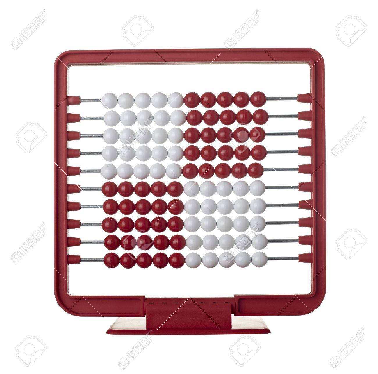 close up of an abacus on white background Stock Photo - 7513261