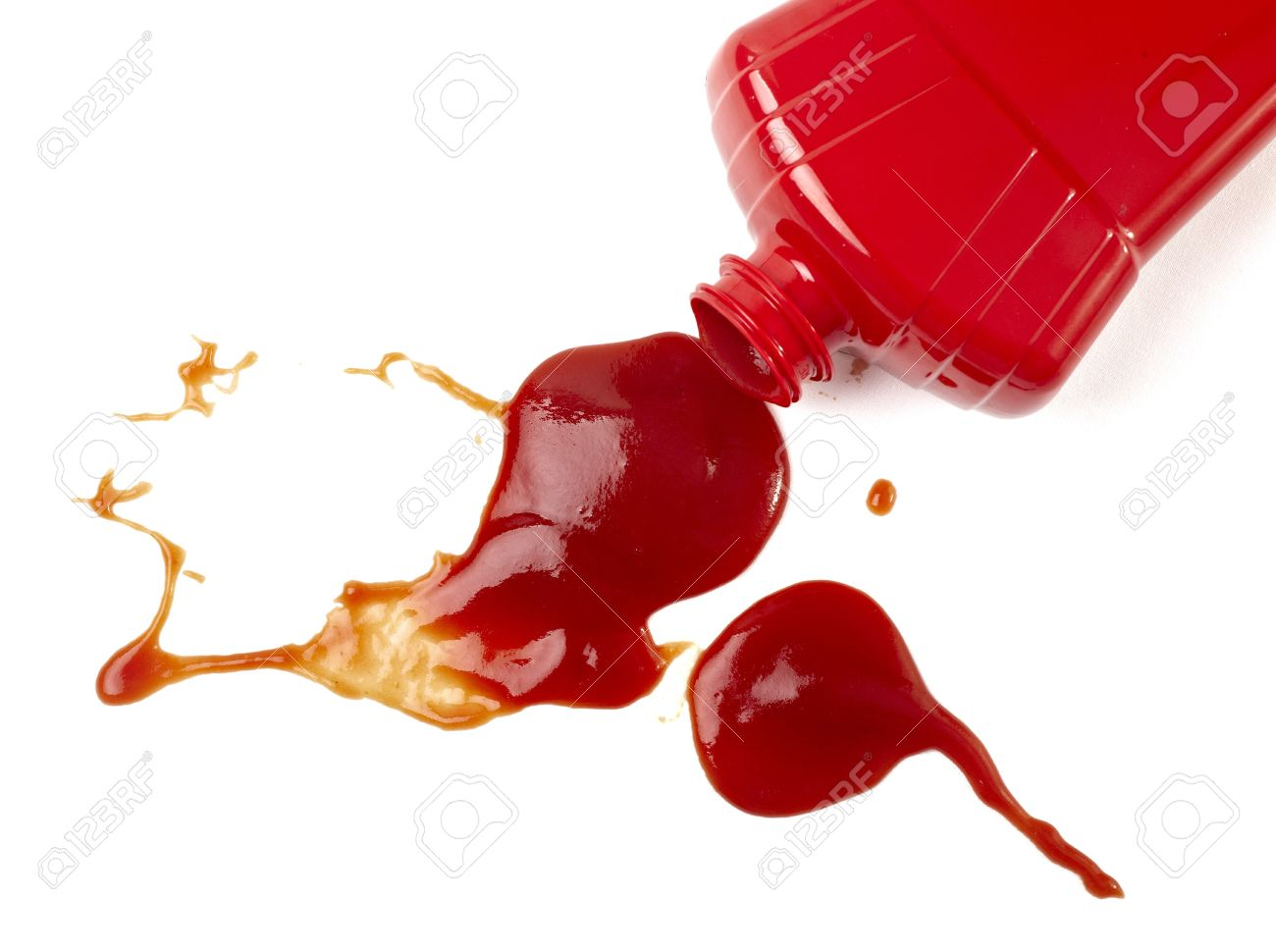 close up of ketchup stains - 8409341