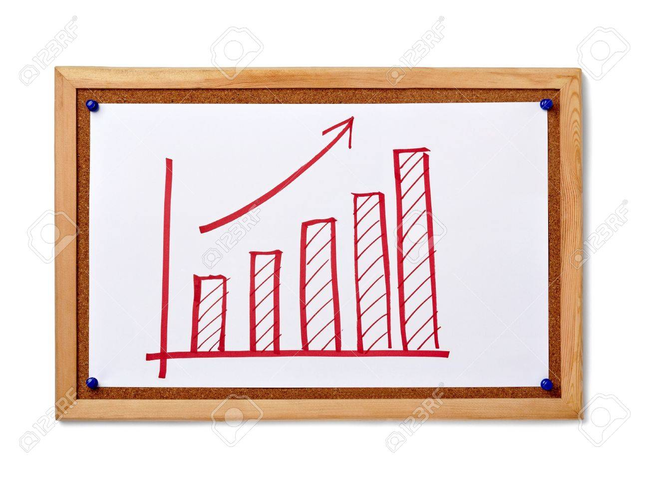 close up of corkboard with finance business graph Stock Photo - 9238049