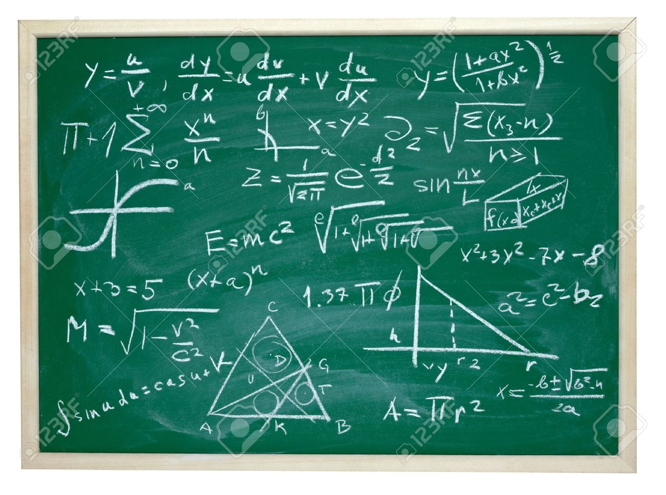 close up of math formulas on a blackboard Stock Photo - 9238084