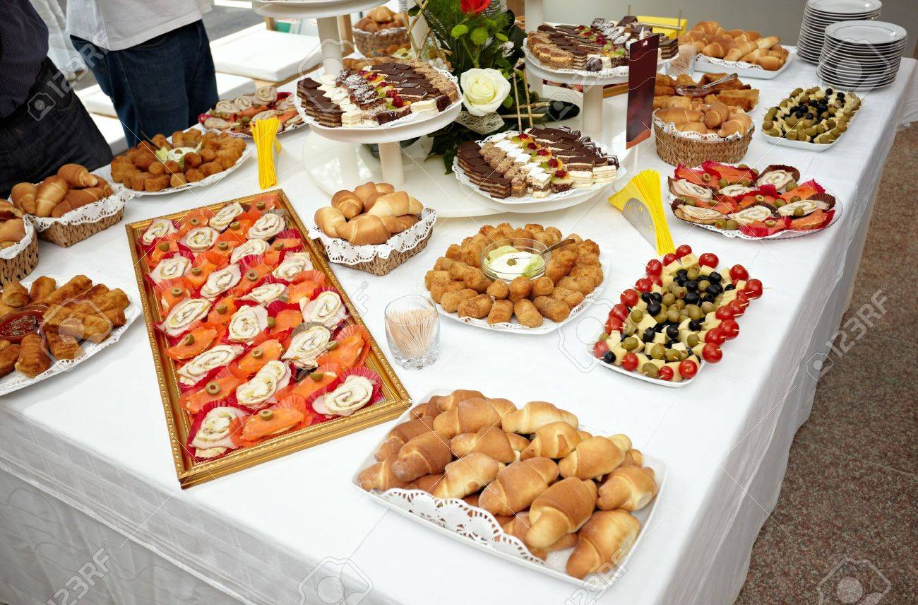 close up of catering food on table Stock Photo - 9774633