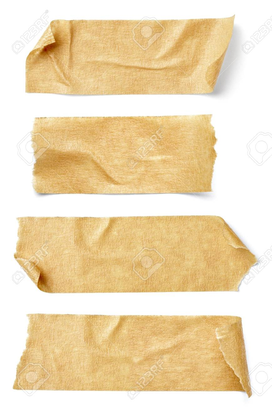 collection of  various adhesive tape pieces on  white background. each one is shot separately Stock Photo - 10046218