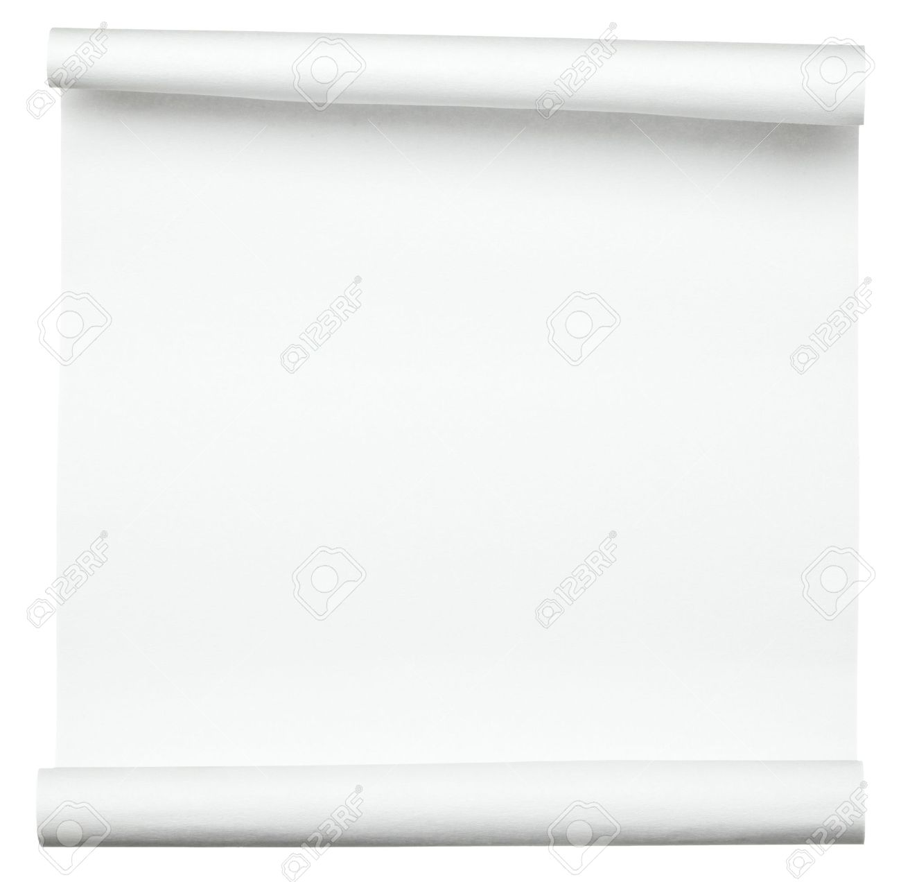 close up of  a curled paper on white background Stock Photo - 10227259