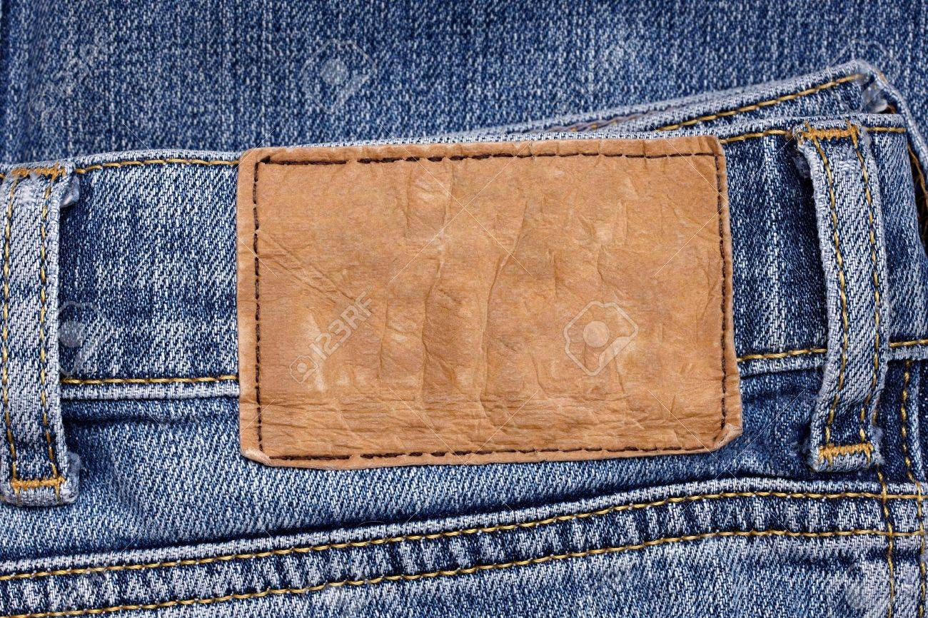 close up  of a jeans label Stock Photo - 10256727