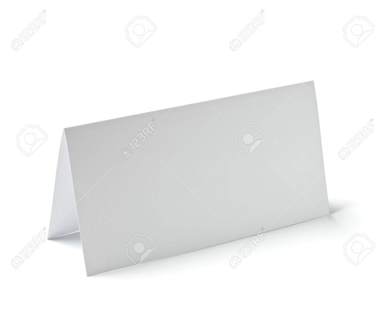 close up of  a folded card on white background Stock Photo - 10722949