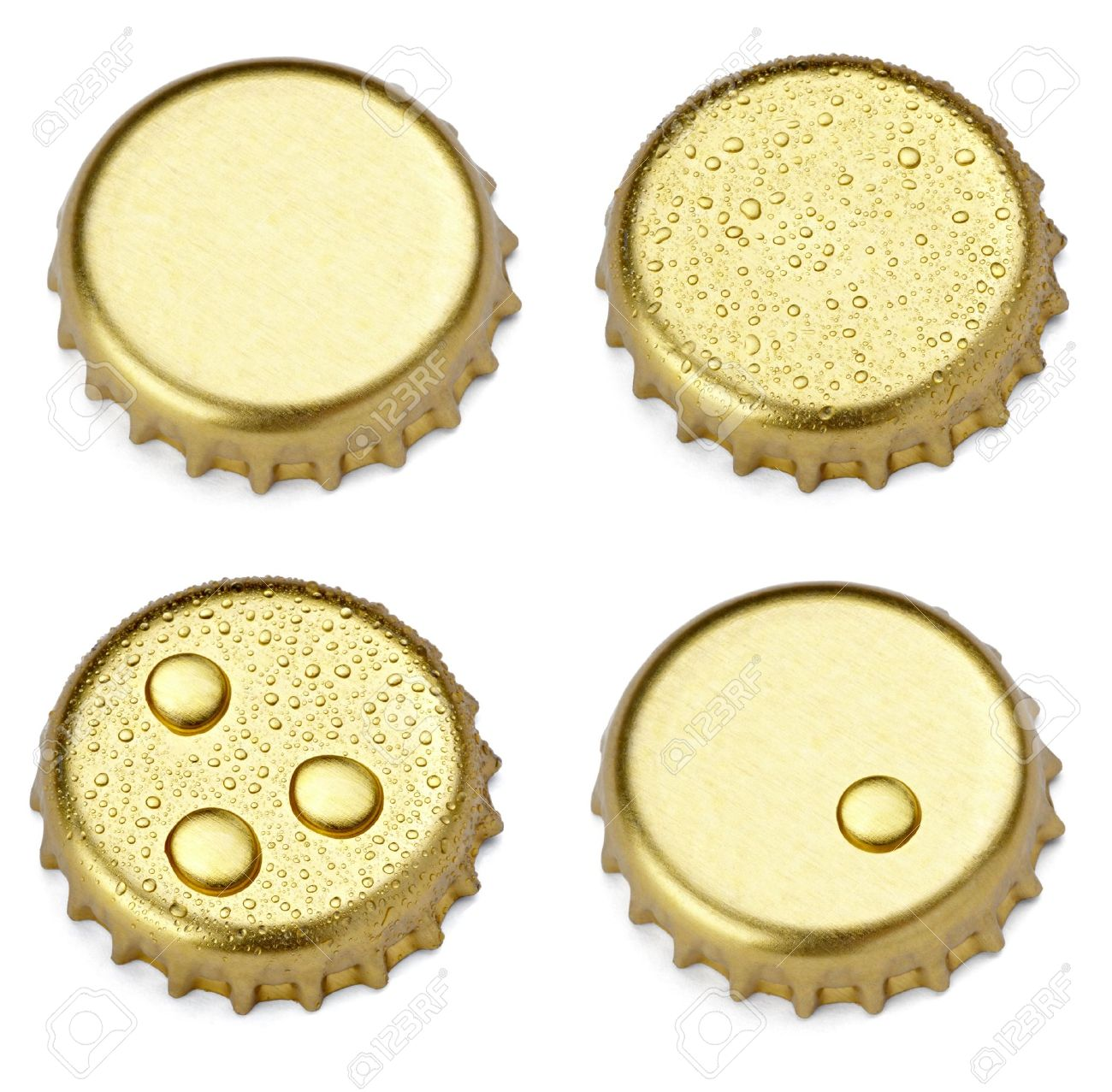 collection of  various bottle cap on white background. each one is shot separately Stock Photo - 10808757