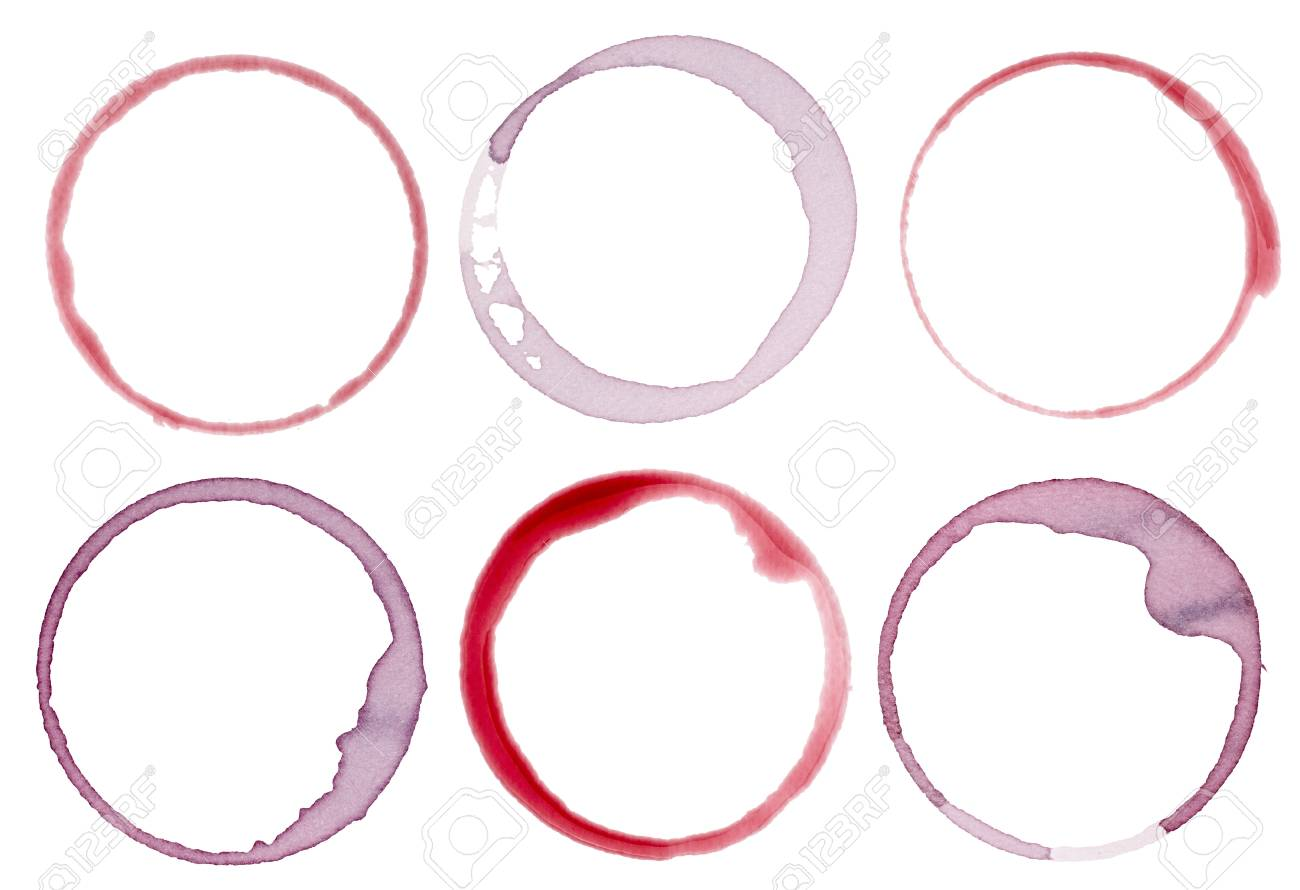 collection of  various wine stains on  white background. each one is shot separately Stock Photo - 11163822