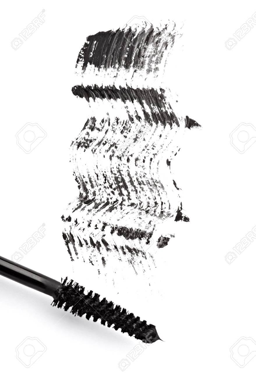 close up of black mascara on white background Stock Photo - 11640776