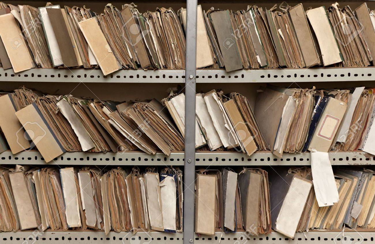 close up of old vintage files in a storage room Stock Photo - 11818067