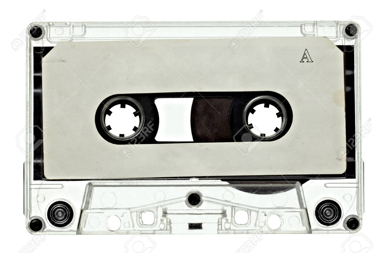 close up of vintage audio tape on white background with clipping path Stock Photo - 12271198