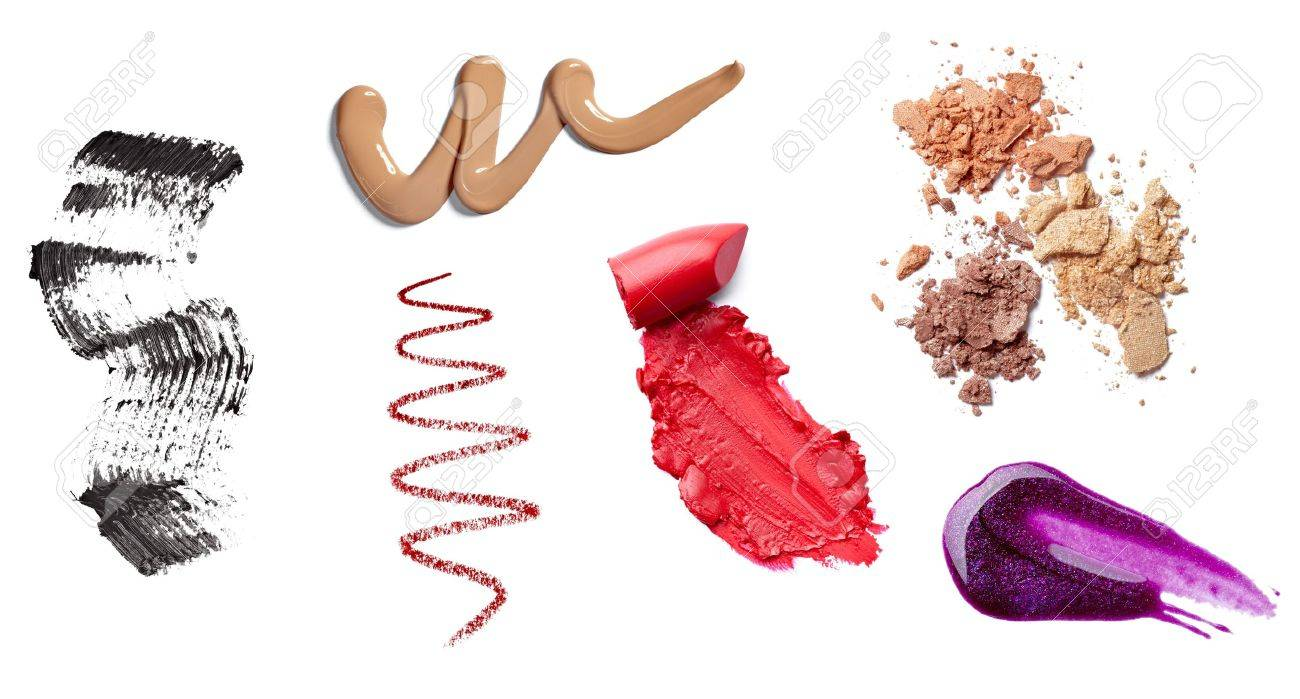 collection of  various make up accessories on white background. each one is shot separately Stock Photo - 12650140