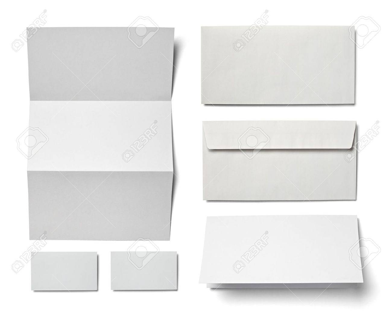 collection of various  blank white paper on white background  each one is shot separately Stock Photo - 12649939