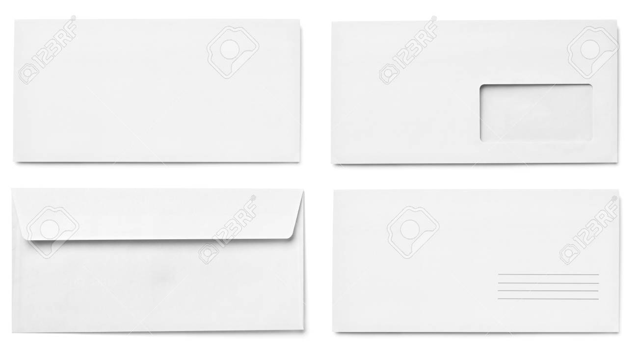 collection of various  blank white paper on white background. each one is shot separately Stock Photo - 15430905