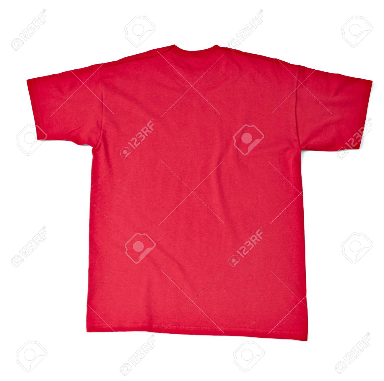 close up of  a t shirt on white background with clipping path Stock Photo - 17022961