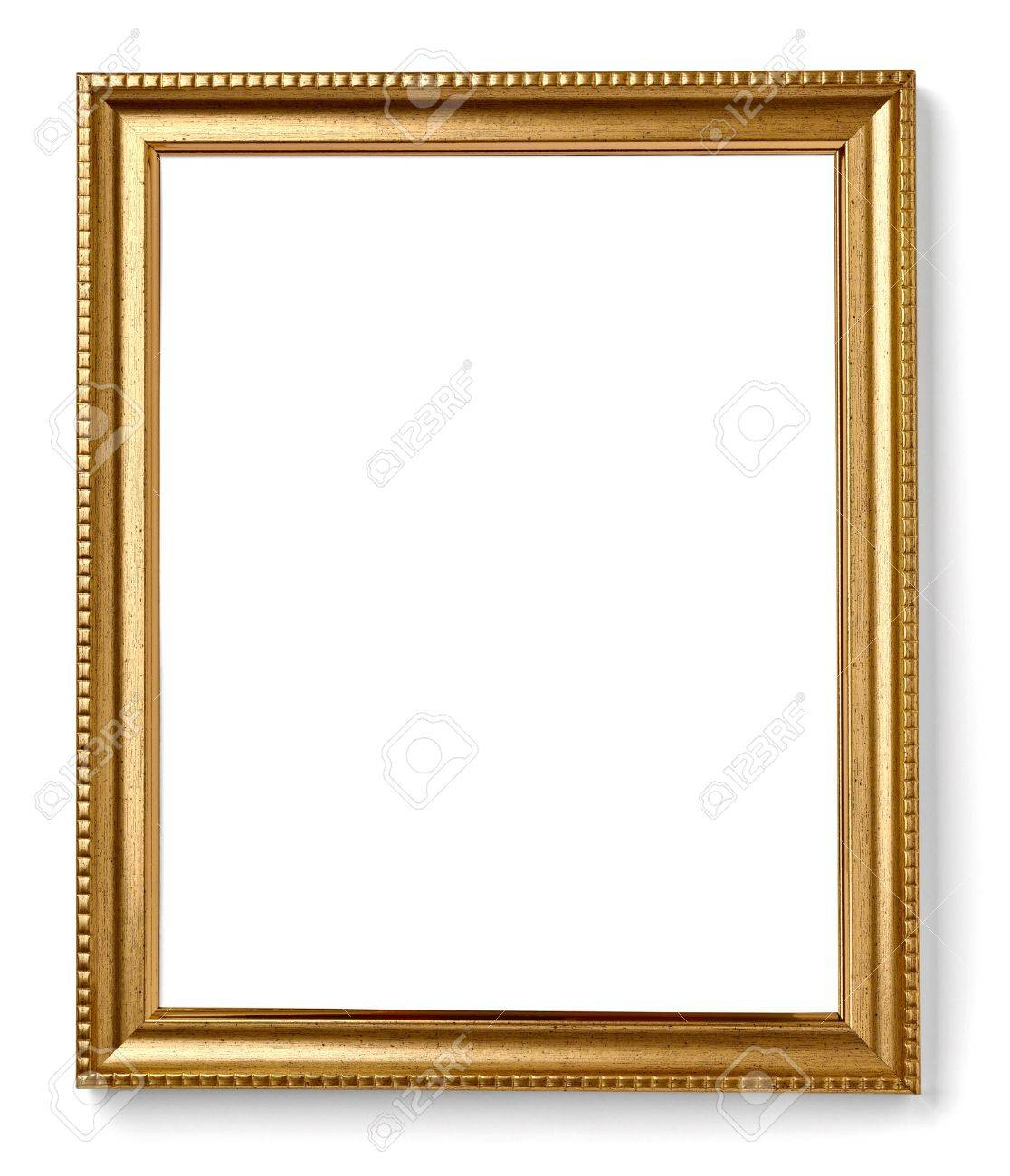 Wooden Frame For Painting Or Picture On White Background With ...
