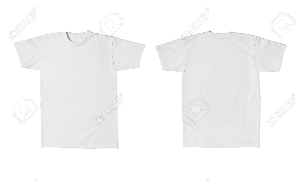 Nahaufnahme Von Einem Weißen T-Shirt-Vorlage Vorder-und Rückseite ...