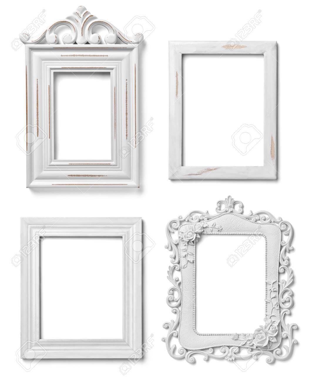 Fantástico Foto Marcos De Madera Blanca 5x7 Componente - Ideas ...
