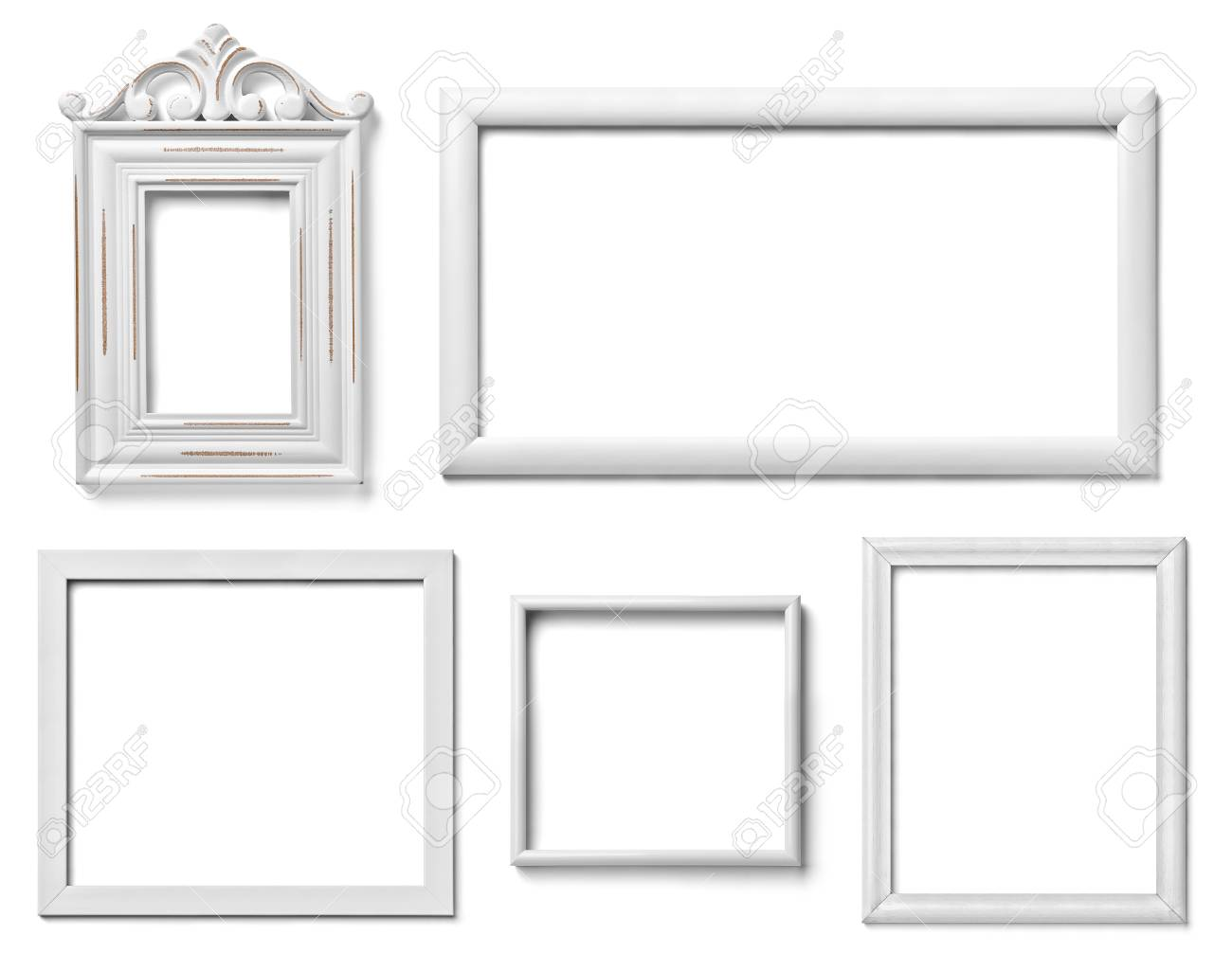 Lujo Marcos De Cuadros Blanco 4x6 Embellecimiento - Ideas ...