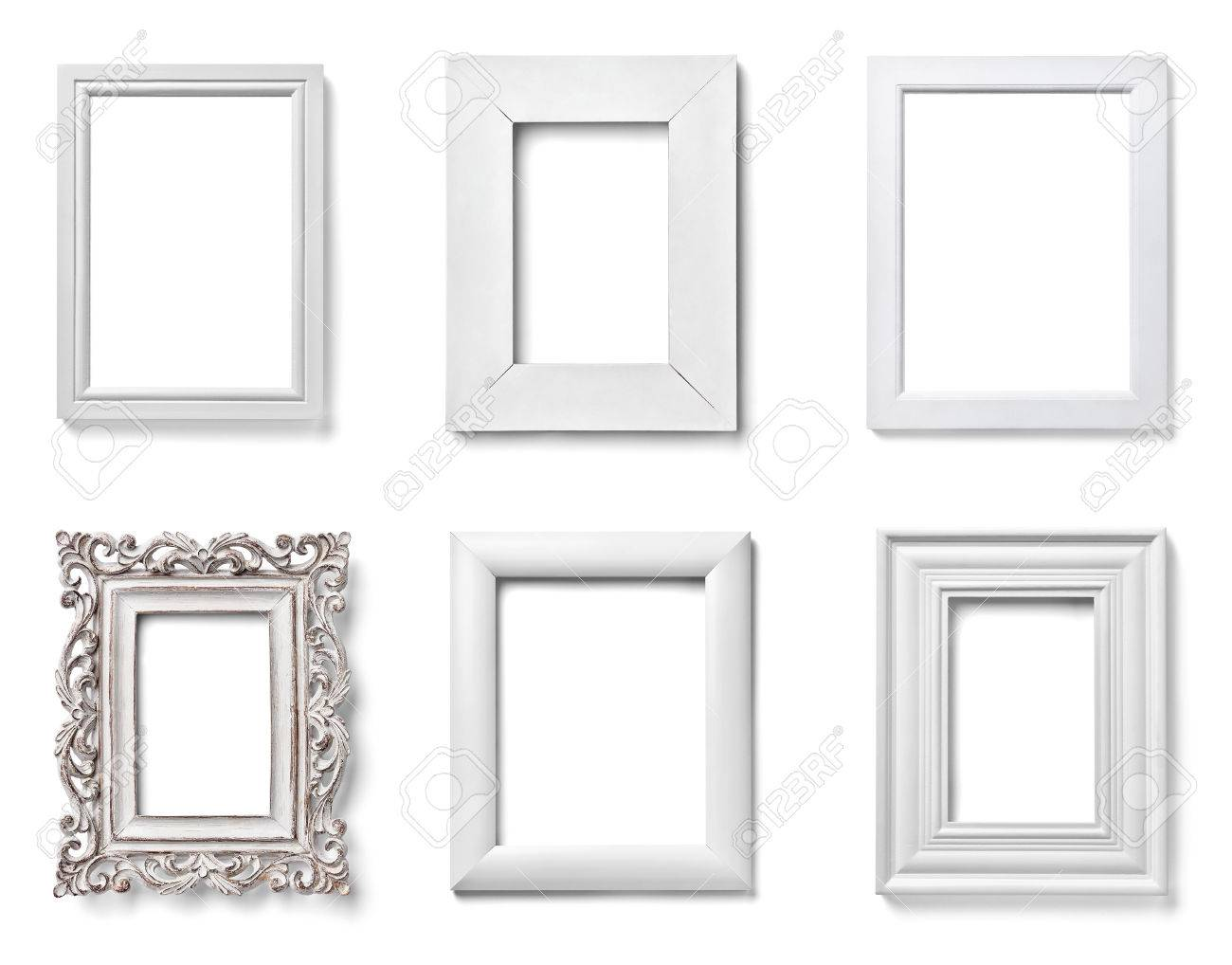 Increíble Picture Frames White Wood Embellecimiento - Ideas ...