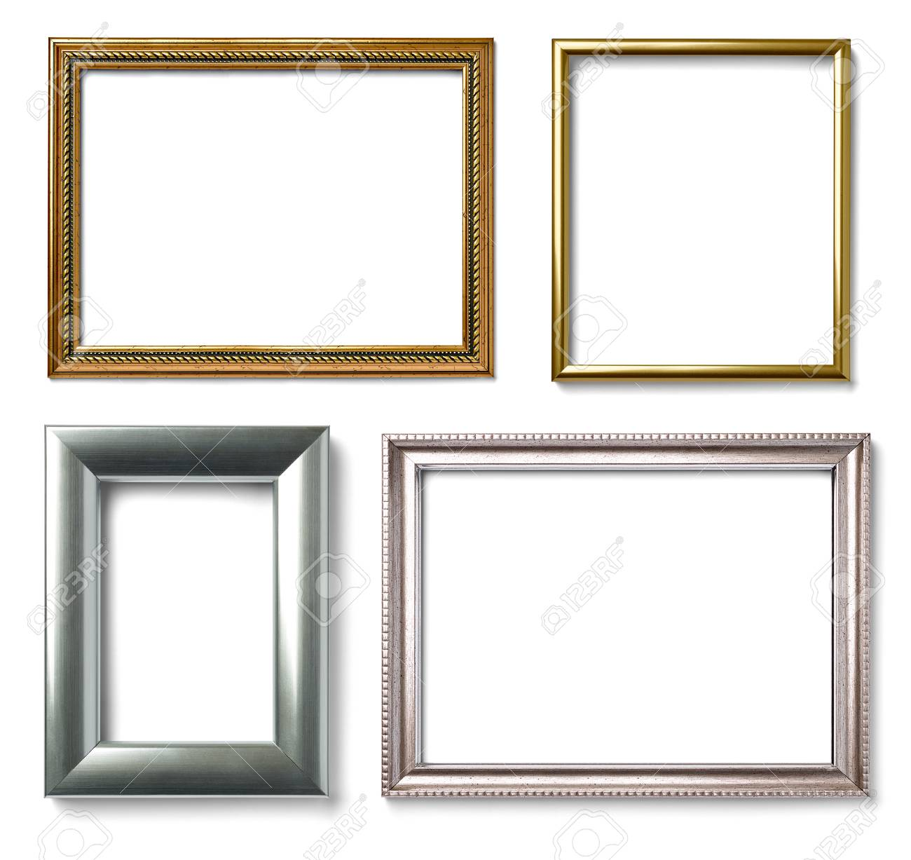 Collection of various vintage wood frame on white background stock collection of various vintage wood frame on white background stock photo 52592095 jeuxipadfo Gallery